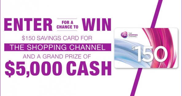 shopping channel savings card _national contest_feature