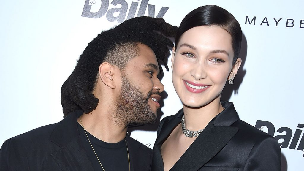"WEST HOLLYWOOD, CA - MARCH 20: The Weeknd and Bella Hadid arrives at the The Daily Front Row ""Fashion Los Angeles Awards"" 2016 at Sunset Tower Hotel on March 20, 2016 in West Hollywood, California."
