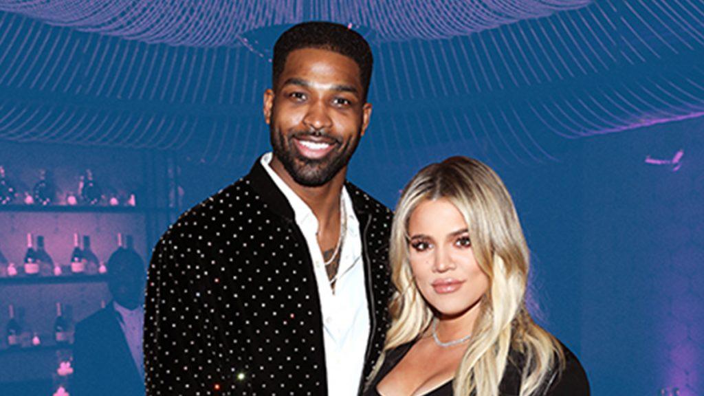 khloe kardashian next to ex-boyfriend tristan thompson