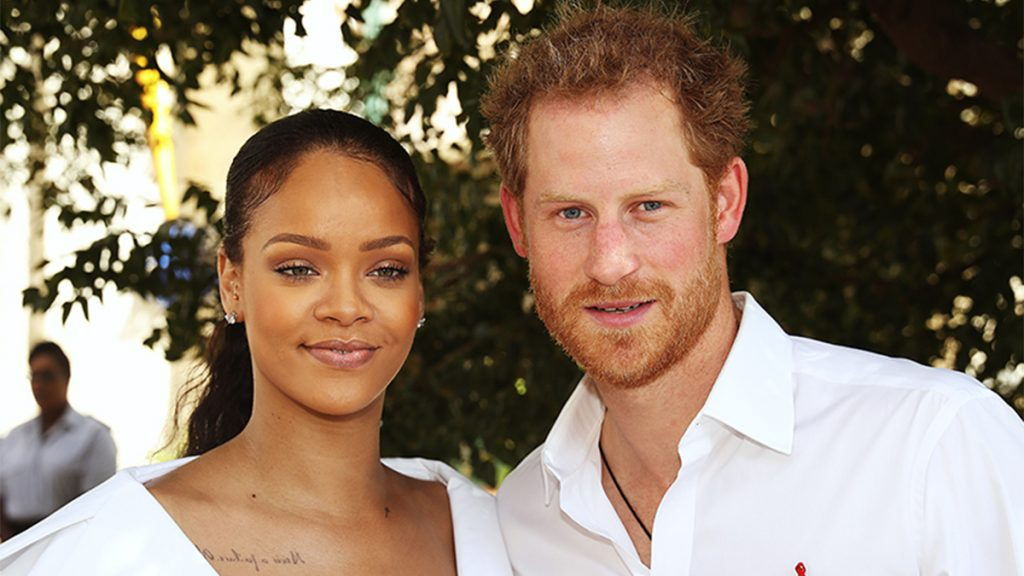Rihanna and Prince Harry in Barbados in 2016