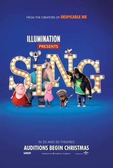 sing, illumination entertainment, movie, family, animated, reese witherspoon, matthew mcconaughey