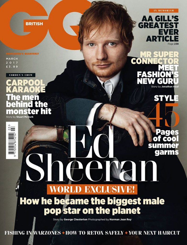 ed sheeran, british gq